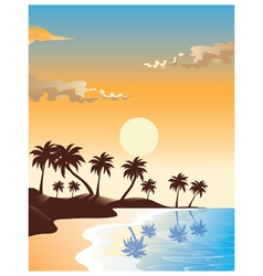 Summer Sunrise Design vector image
