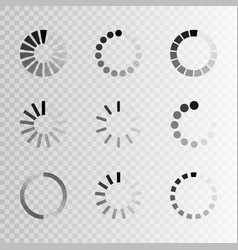 Super set different load icon circle website vector