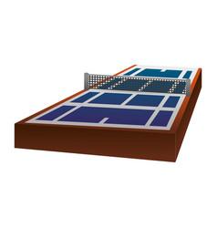 Tennis court field vector