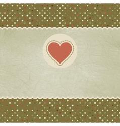 Vintage Valentines Heart Card vector image