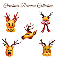 Watercolor christmas ornaments collection vector
