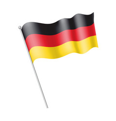 Waving flag germany vector