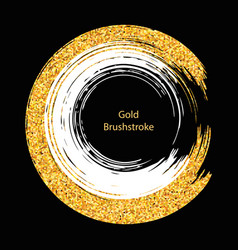 white and gold brushstroke design templates for vector image