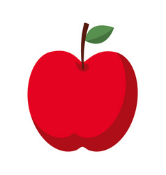 red apple fruit fresh food health icon vector image