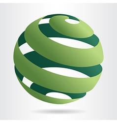 Sfera green vector image vector image