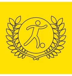 soccer sportsman flag background design vector image