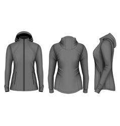Softshell hooded jacket for lady vector image vector image