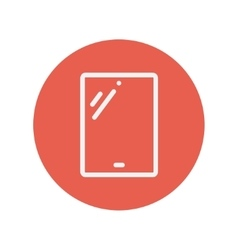 Tablet thin line icon vector image vector image