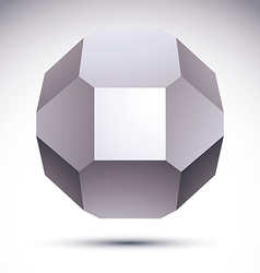 3D polygonal geometric object abstract design vector image vector image