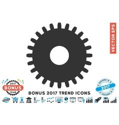 Cogwheel Flat Icon With 2017 Bonus Trend vector image