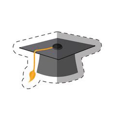 graduation cap thin line vector image vector image