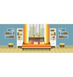 Interior living vector image