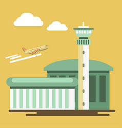 Summer travel or holiday vacation airport vector