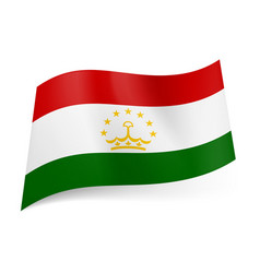 national flag of tajikistan red white and green vector image