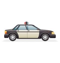 Retro police car icon isolated realistic 3d design vector