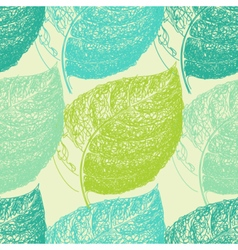 Summer hand drawn leaf vector image vector image