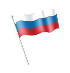 ving flag russia vector image vector image