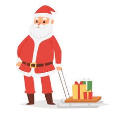 christmas santa claus character pose vector image vector image
