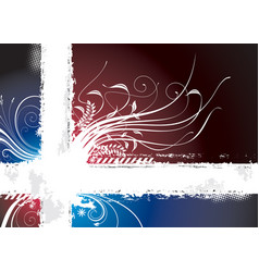 dark floral vector image vector image
