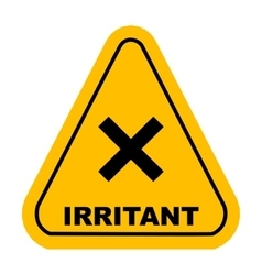 irritant sign vector image vector image
