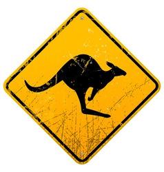 Kangaroo Vintage Sign vector image