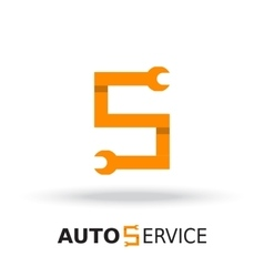 Logo template layout for auto service vector image