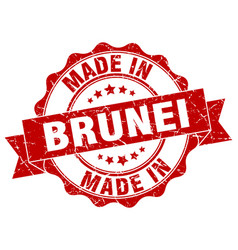 made in brunei round seal vector image vector image