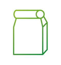 paper lunch bag takeaway school element vector image