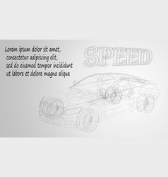 Abstract image of a sport car in the form of a vector