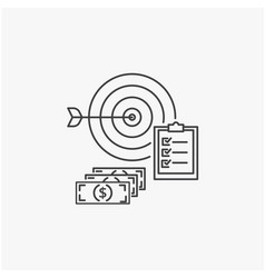 Achievement goals fulfillment tasks and vector