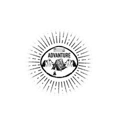 adventure grunge retro logo vector image
