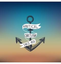 Anchor sketch background vector