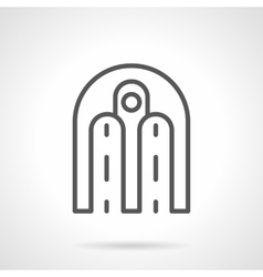 Architecture arch simple line icon vector image