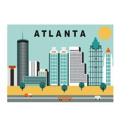 atlanta city usa vector image