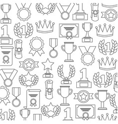 awards trophy medals success winner pattern vector image