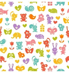 Baby seamless wallpaper vector