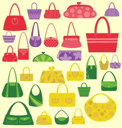 Bags Women Digital Clipart vector image