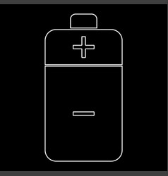 Battery the white path icon vector