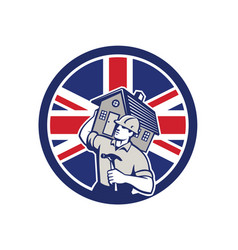 British building contractor uk flag icon vector