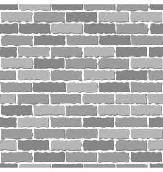 Brown brick wall vector