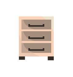cabinet office work business equipment icon vector image