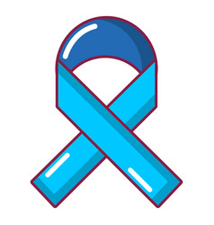 cancer ribbon icon cartoon style vector image
