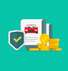 Car or auto insurance financial guarantees vector