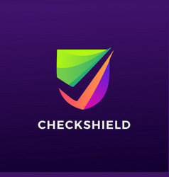 Check shield logo icon vector