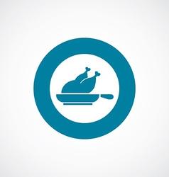 chicken grill icon bold blue circle border vector image