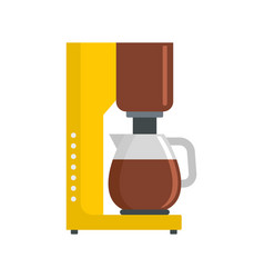 Coffee maker icon flat style vector
