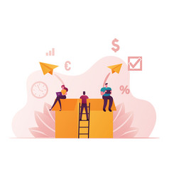 Creative idea development think outside concept vector