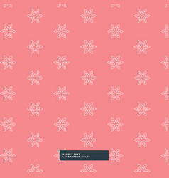 cute simple flower pattern background vector image