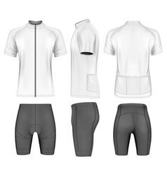 Cycling clothes for men vector