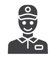 Delivery man glyph icon logistic and delivery vector